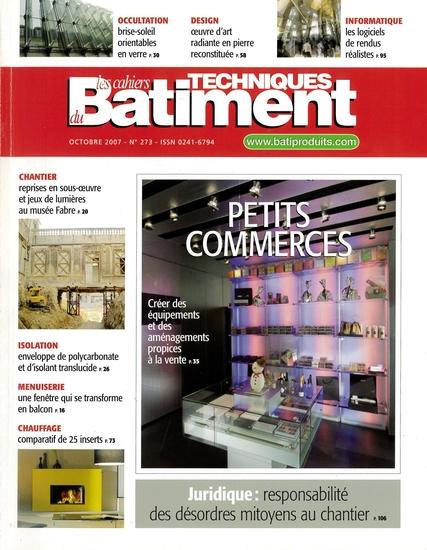 MA_Publication_2007_Cahiers Techniques du Moniteur_Carquefou_couverture
